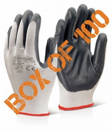 Click EC7 Nitrile Coated Work Glove (Large) [BOX OF 100]
